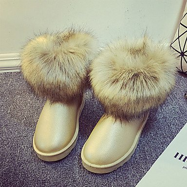 Round 5 Novelty Boots Toe Lining Fall Women'S Booties Boots Flat RTRY UK3 Boots Heel Comfort Ankle US5 Fluff Leather CN35 Fashion Shoes Winter Snow Nubuck EU36 5 xTOn4zOq