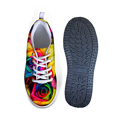 Women's Rocking Swing Mesh Flexible Wedges Sneakers Flower 10 3D CHAQLIN Shoes Platform Flower gpq0dqSw