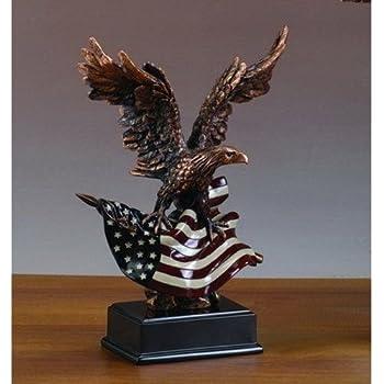 Eagle w/American Flag (S) Statue