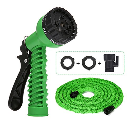 PATHONOR Garden Hose 50FT, Expandable Garden Water Hose 7 Functions Sprayer with Latex TPE Inner Tube & Latest Improved Extra Strength Fabric Protection for All Your Watering Needs.
