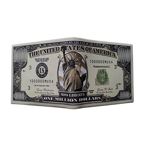 Men Dollar Bill Wallet Leather Credit Card Holder