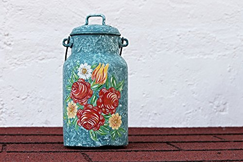 (Home Comforts Print on Metal Painting Pot Decoration Ornament Milk Can Painted Print 12 x 18. Worry Free Wall Installation - Shadow Mount is Included.)