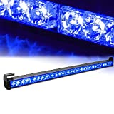 Xprite 31.5'' 28 LED 7 Modes Traffic Advisor Emergency Warning Vehicle Strobe Light Bar Kit (Blue)
