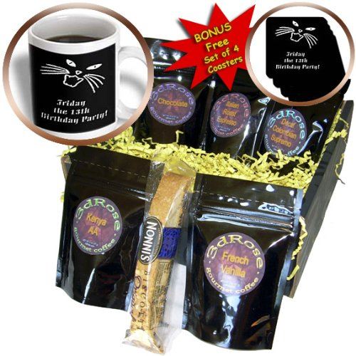 Beverly Turner Design - Friday the 13th Birthday Party - Coffee Gift Baskets - Coffee Gift Basket (cgb_16328_1)
