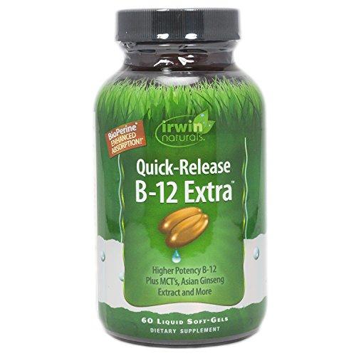 Irwin Naturals Quick-release B12 Extra Supplement, 60 Count
