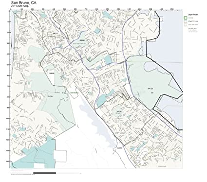 Amazon.com: ZIP Code Wall Map of San Bruno, CA ZIP Code Map ... on redwood city map, clovis map, escondido village map, pleasanton map, north san francisco map, port of san francisco map, berkeley map, south san francisco ca map, cathedral city map, san pablo map, lafayette map, porterville map, market st san francisco map,