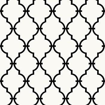 RoomMates RMK9018WP Modern Trellis Peel And Stick Wallpaper Decor