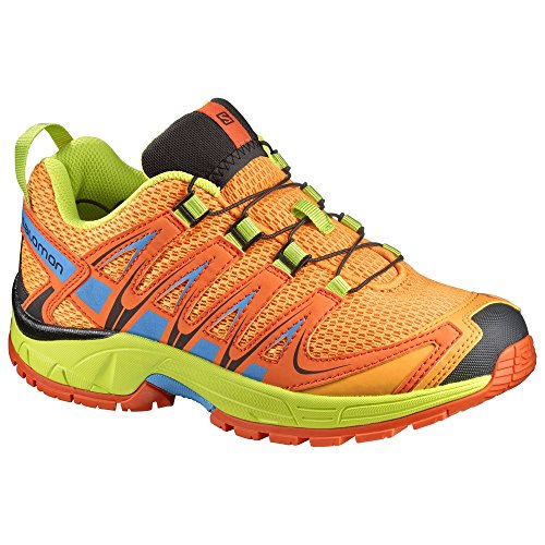 Salomon Junior XA Pro 3D Shoes Bright Marigold/Flame/Lime Punch 1.5 & Quicklace Salomon Kids Xa Pro Shoe