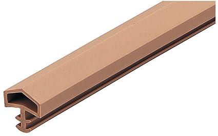 25 metros – puerta sello Door SEAL puerta M 680 para marcos de madera marco de la puerta sellos Beige costura ancho: 12 mm plástico suave PVC ...