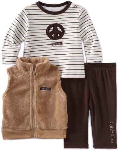 Calvin Klein Baby-Boys Newborn 3Pieces Vest Set