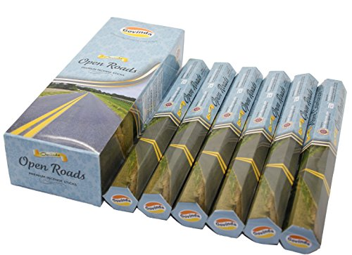 Govinda® Incense - Open Roads - 120 Incense Sticks, Premium Incense, Masala (Road Stick)