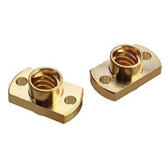 2X Guide Screw T8 OD 8 mm Pitch 2 mm Cable 2 mm 300mm with Brass nut for Reprap 3D Print 3D Printer Parts Lead Screw