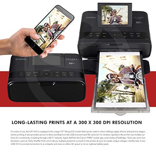 Canon CP1300 Photo Printer WiFi and Bundle Color Set