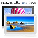 Cewaal 9 inch Tablets PC ATM7029 Quad Core Android 4.4, 1GB RAM 8GB ROM, WiFi 3G Bluetooth OTG HDMI, 1024x600 HD Display, Dual Camera, Google Play Store Gaming, White