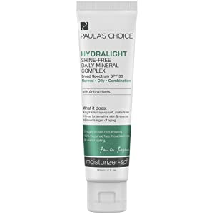 Paula's Choice HYDRALIGHT Shine-Free Mineral Moisturizer SPF 30, Antioxidants & Licorice Extract, Sunscreen for Oily Skin, 2 Ounce