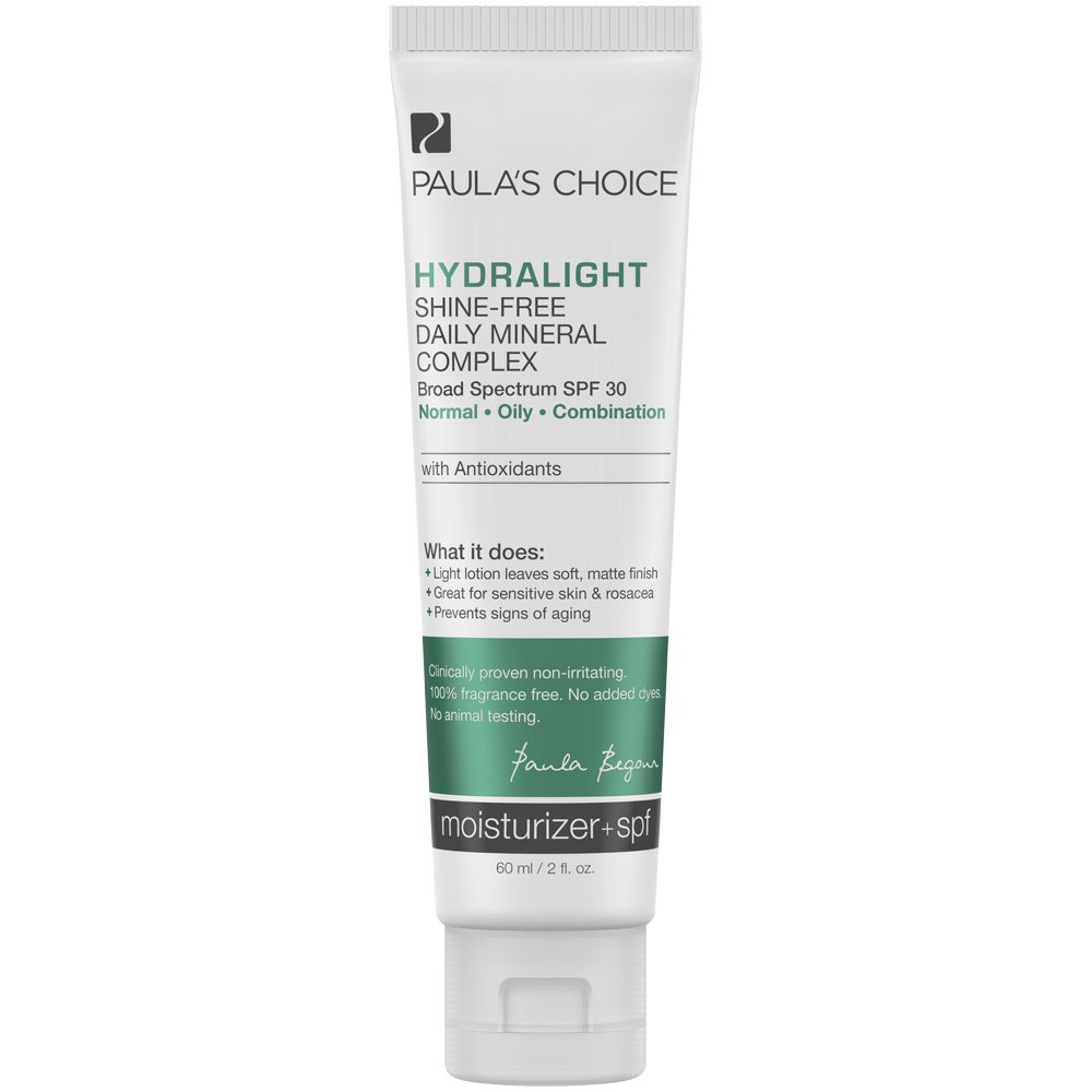 Paula's Choice Hydralight Shine-Free Mineral Complex SPF 30 Mineral Sunscreen with Antioxidants for Sensitive Skin - 2 oz
