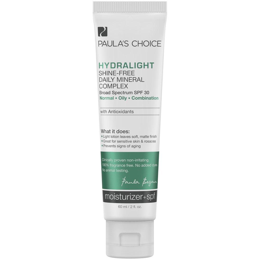 Paula's Choice-HYDRALIGHT Shine-Free Mineral Complex SPF 30 Mineral Sunscreen + Antioxidants-Sensitive Skin Facial Sunscreen-1-2oz Bottle