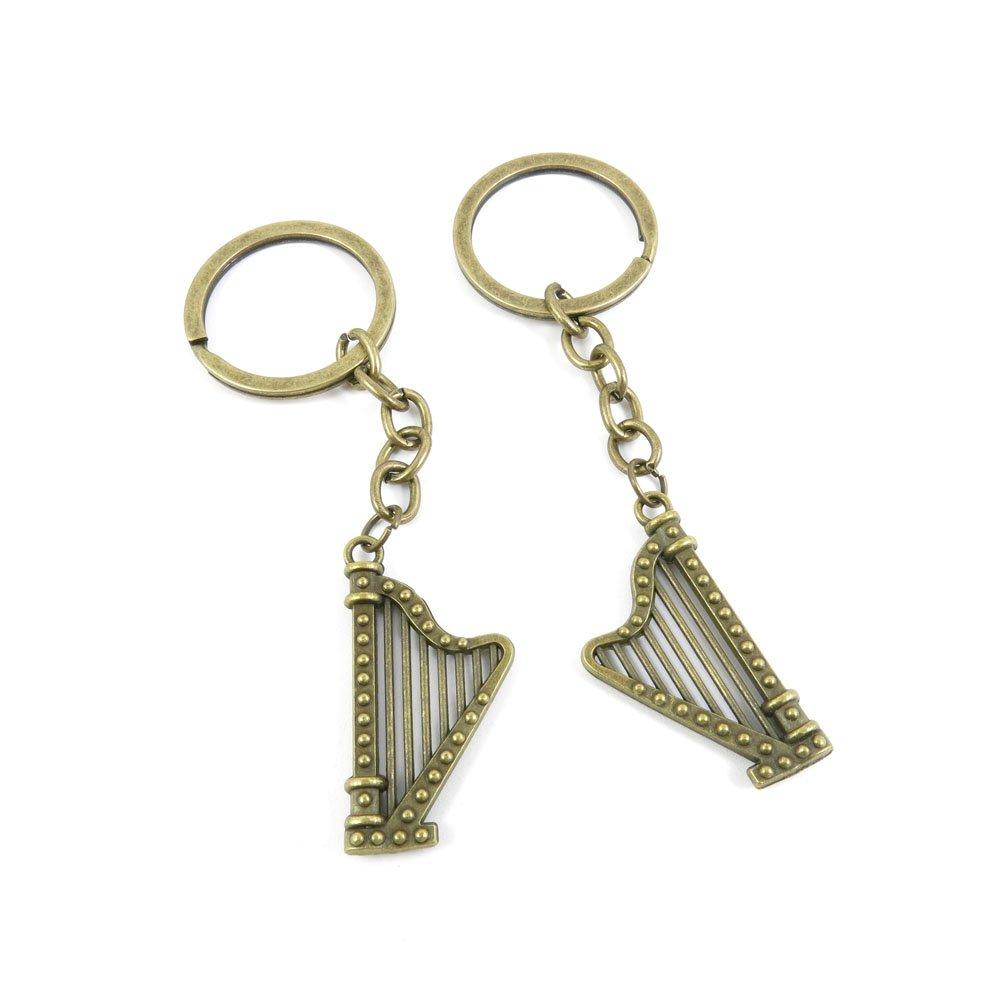 ファッションジュエリードア車キータグキーリングキーチェーンリングチェーン仕入先供給卸売バルクロットx3jg7 Irish Harp ブロンズ X3JG7DL44Y_50 B01H5WQDX8 X3JG7DL44Y 50 Pieces