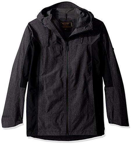 Burton Men's Gore-Tex 2L Pack Rite Jacket, True Black Heather, Medium