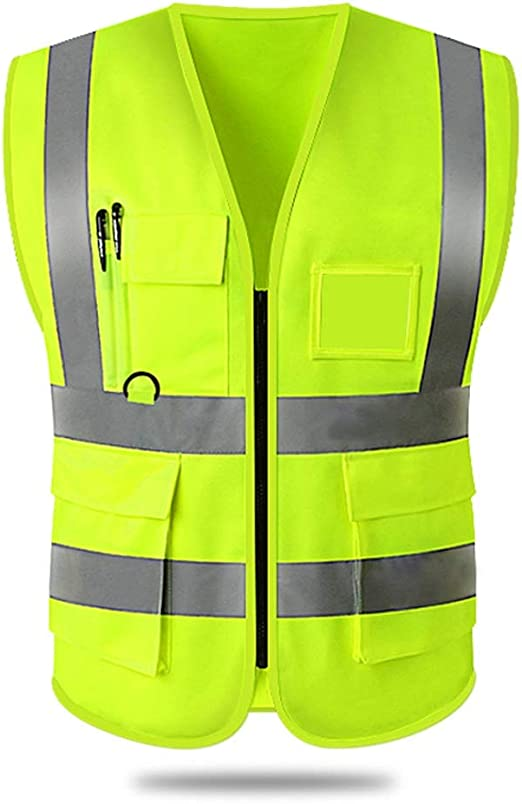 Details about  /IRONWORK 3 VESTS FOR $14 Lime Mesh Reflective Tape Class 2 Vest w// Radio Clip