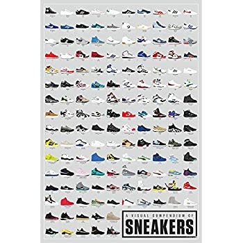 Pop Chart: Poster Prints (24x36) - Sneakers Infographic - Printed on Archival Stock - Features Fun Facts About Your Favorite Things