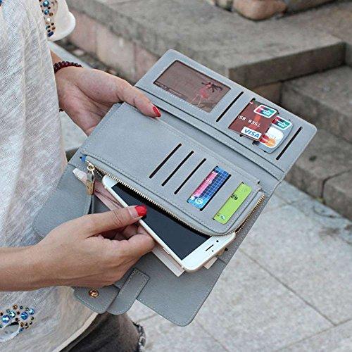 Femme Sac longue monnaie Cuir PU Badiya Porte d'embrayage Embrayage zpwxqfq7Fd