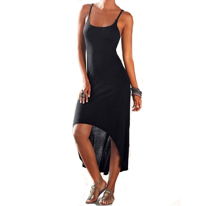 Finelook Womens Sexy Sleeveless Backless Bodycon Summer Beach Long Maix Sundress