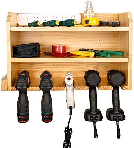 Power Tool Charging Storage - Drill Storage Organization Hanging Drill Wall Holder Wall Mount Tools Home & Garage Storage System