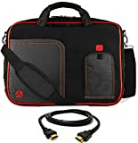 VanGoddy Lava Red Laptop Messenger Bag for Toshiba Portege WT20 , A30 , Z20t , Z30 / DynaPad / Tecra Z40 , A40 , C40 + 12FT HDMI Cable