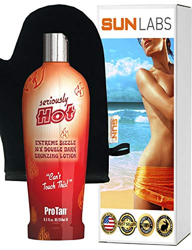 (Seriously Hot- Bronzing Lotion 8.5 oz | Lotion Applicator )