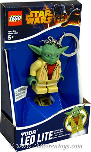 Lego Star Wars New Official Yoda Minifigure LED Lite Key Chain Light Torch Keyring by LEGO