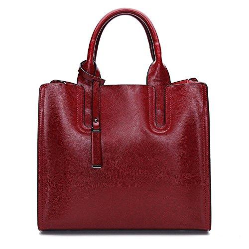 Simple Oil Shoulder Black Fashion Lady Gules Single Gwqgz Portafoglio New Bag Wax Retro YgBnwq4