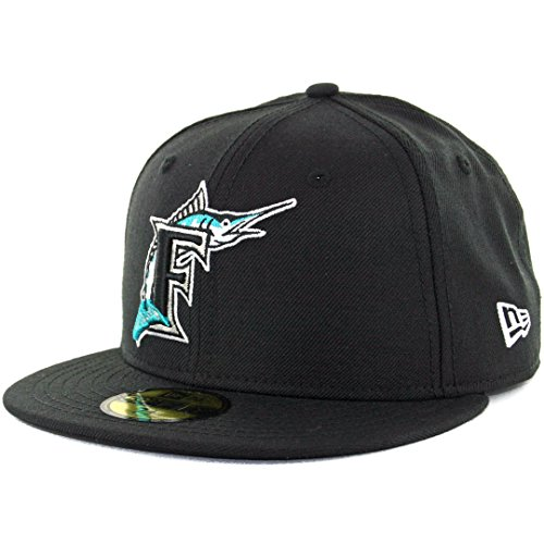 New Era 59FIFTY Florida Marlins Cooperstown Fitted Hat (Black) Cap ()