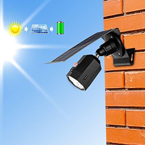 MoRgen Solar Motion Sensor Lights Outdoor 5W Wireless Aluminum LED Flood Security Light, 3 Modes,360 Degree 10 LED Solar Spotlight-1400 Lumens for for Yard Porch Patio Garage Driveway-Black by MoRgen (Image #1)