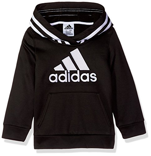 adidas Boys' Athletic Pullover Hoodie, Black a, 2T