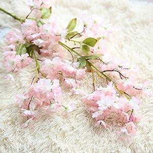 Amiley 1 piece Artificial Fake Cherry Blossom Silk Flower Bridal Hydrangea Home Garden Decor (B) 16