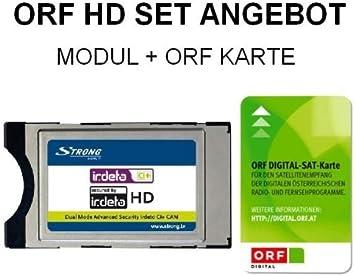 Strong Irdeto - Módulo CI+ CI Plus con tarjeta HD HDTV ORF: Amazon.es: Electrónica