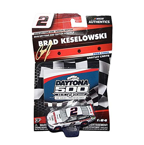 AUTOGRAPHED 2018 Brad Keselowski #2 Discount Tire Racing DAYTONA 500 SPECIAL EDITION (Team Penske) Monster Energy Cup Series NASCAR Authentics Signed Lionel 1/64 Scale NASCAR Diecast with Card & COA
