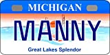 Personalized Michigan 1997 Bicycle Replica License Plate any name