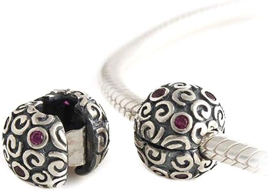 Fashion 925 Sterling Silver Charm Zircon Européen Bijoux Perle pour Bracelet Collier