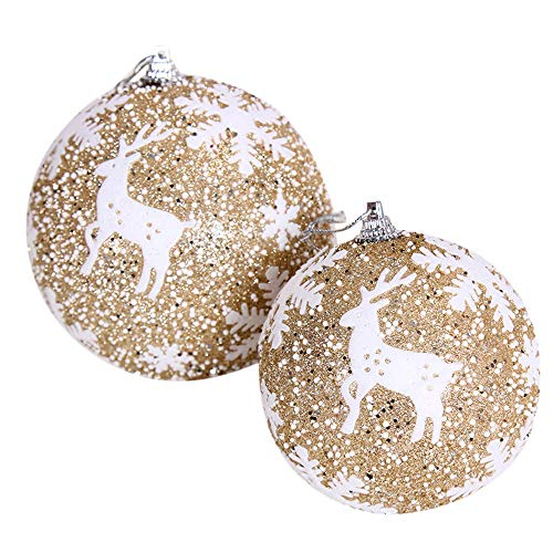 New Tuscom Christmas Balls Hanger Baubles,for Xmas Tree Hanging Ornament Party Decor(3 Colors) (Gold, S) by Tuscom@ (Image #1)