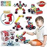 VATOS Building Blocks Toy for Kids, STEM Toys 550 Piece Building Blocks & Screw Toy for 5, 6, 7, 8+ Year Old Educational Birthday & Christmas Toy for Boys & Girls |Take-A-Part Toys