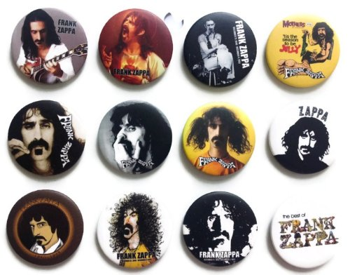 Frank Vincent Zappa Awesome Quality Lot 12 New Pins Pinback Buttons Badge 1.25""