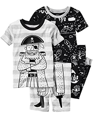 Carter's Baby Boys 4 Piece Cotton 321g253, Print, 9M