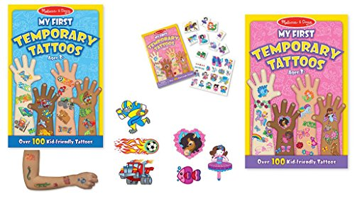 Melissa and Doug My First Temorary Tattoos - Pink and Blue Combo Set by Melissa & Doug