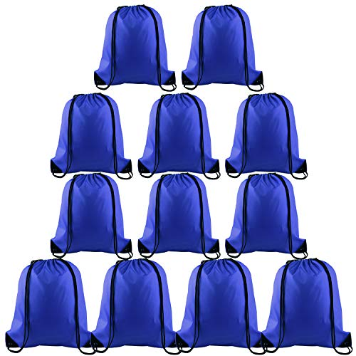 (KUUQA 12 Pcs Drawstring Backpack Bags Sport Gym Sack Cinch Bags for Traveling and Storage)