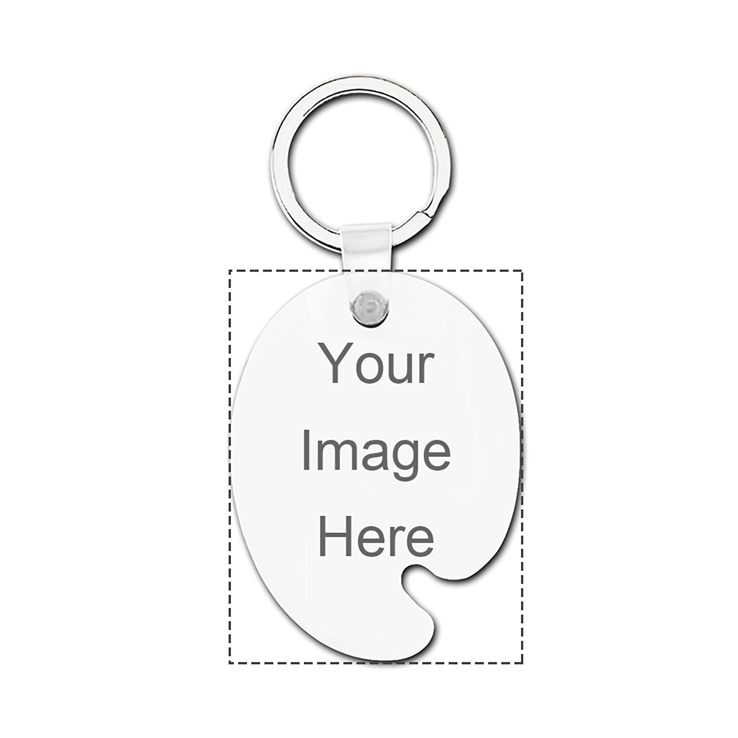 Custom Hardboard Palette Keychain Design Your Own Print Image or Message Keychain Set