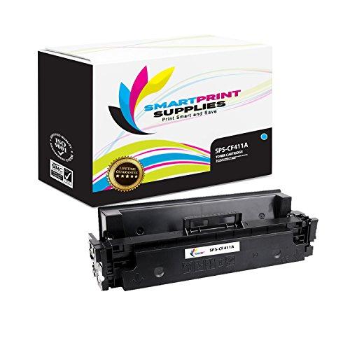Smart Print Supplies Compatible 410A CF411A Cyan Toner Cartridge Replacement for HP Laserjet Pro M452 M477 Printers (2,300 Pages) ()