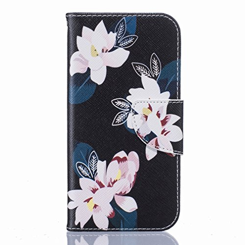 Cover iphone 7 Custodia, Ougger Loto Portafoglio Card Slot PU Pelle Magnetico Stand Silicone Flip Bumper Protettivo Cover Case Custodia per Apple Iphone 7