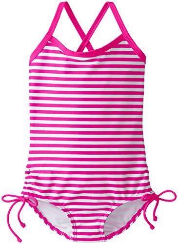Kanu Surf Little Girls' Toddler Bali One Piece Swimsuit, Pink, 2T